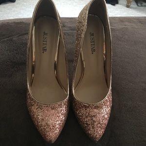 Just fab rose gold ombré heels